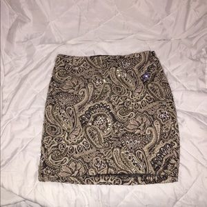 Guess Los Angeles Body Con Paisley Skirt